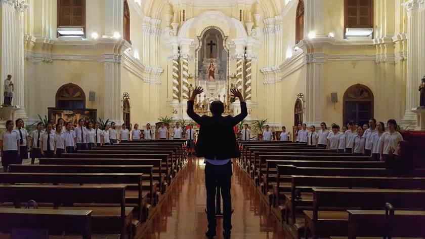 Singing at the St. Joseph Seminarium