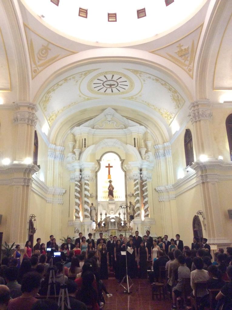 Asia Pacific Youth Choir singing in the beautiful St. Joseph Seminarium.